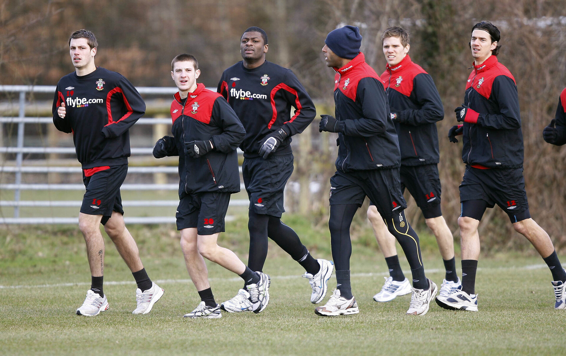 Football - Southampton Training - Southampton Training Ground - 09/10 - 11/2/10  (L-R) Southampton's Morgan Schneiderlin, Adam Lallana, Radhi Jaidi, Wayne Thomas Dean Hammond and Jose Fonte during training  Mandatory Credit: Action Images / Peter Cziborra  Livepic Football - Southampton Training - Southampton Training Ground - 09/10 - 11/2/10 (L-R) Southampton's Morgan Schneiderlin, Adam Lallana, Radhi Jaidi, Wayne Thomas Dean Hammond and Jose Fonte during training Mandatory Credit: Action Images / Peter Cziborra Livepic