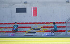 SOUTHAMPTON, ENGLAND - MAY 19: Players prepare a safe distance apart as Southampton FC players return to training following Covid-19 restrictions being relaxed, at the Staplewood Campus on May 19, 2020 in Southampton, England. (Photo by Matt Watson/Southampton FC via Getty Images)