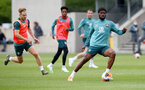SOUTHAMPTON, ENGLAND - JUNE 09: Kevin Danso during a Southampton FC training session at the Staplewood Campus on June 09, 2020 in Southampton, England. (Photo by Matt Watson/Southampton FC via Getty Images)