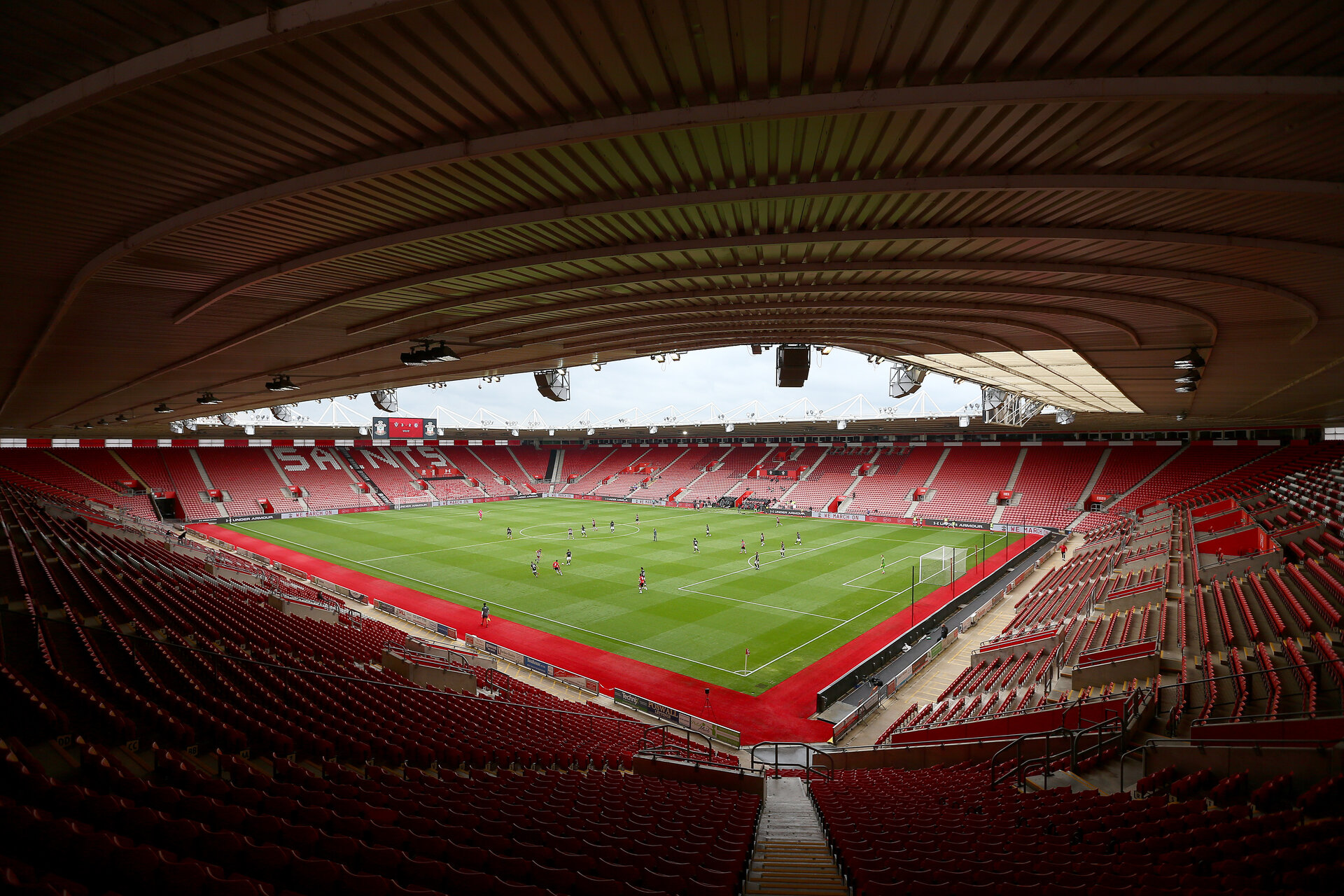 SOUTHAMPTON, ENGLAND - JUNE 12: A general view during a friendly match between Southampton FC and Bristol City, ahead of the Premier League re-start, at St Mary's Stadium on June 12, 2020 in Southampton, England. (Photo by Matt Watson/Southampton FC via Getty Images)