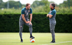 SOUTHAMPTON, ENGLAND - JUNE 17: Ralph Hasenhuttl(L) and Assistant Richard Kitzbichler during a Southampton FC training session at the Staplewood Campus on June 17, 2020 in Southampton, England. (Photo by Matt Watson/Southampton FC via Getty Images)