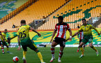 NORWICH, ENGLAND - JUNE 19: Ché Adams during the Premier League match between Norwich City and Southampton FC at Carrow Road on June 19, 2020 in Norwich, United Kingdom. (Photo by Matt Watson/Southampton FC via Getty Images)