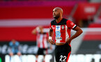 SOUTHAMPTON, ENGLAND - JUNE 25: Nathan Redmond of Southampton frustrated during the Premier League match between Southampton FC and Arsenal FC at St Mary's Stadium on June 25, 2020 in Southampton, United Kingdom. (Photo by Matt Watson/Southampton FC via Getty Images)