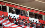 SOUTHAMPTON, ENGLAND - JUNE 25: SFC Directors and the press seating during the Premier League match between Southampton FC and Arsenal FC at St Mary's Stadium on June 25, 2020 in Southampton, United Kingdom. (Photo by Matt Watson/Southampton FC via Getty Images)