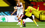 WATFORD, ENGLAND - JUNE 28: (L) Oriol Romeu and (R) Abdoulaye Doucoure during the Premier League match between Watford FC and Southampton FC at Vicarage Road on April 4, 2020 in Watford, United Kingdom. (Photo by Matt Watson/Southampton FC via Getty Images)