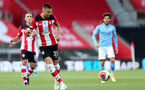 SOUTHAMPTON, ENGLAND - JULY 05: Jan Bednarek during the Premier League match between Southampton FC and Manchester City at St Mary's Stadium on July 5, 2020 in Southampton, United Kingdom. Football Stadiums around Europe remain empty due to the Coronavirus Pandemic as Government social distancing laws prohibit fans inside venues resulting in games being played behind closed doors. (Photo by Chris Moorhouse/Southampton FC via Getty Images)