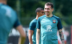 SOUTHAMPTON, ENGLAND - JULY 18: Pierre-Emile Højbjerg during a Southampton FC training session at the Staplewood Campus on July 18, 2020 in Southampton, England. (Photo by Matt Watson/Southampton FC via Getty Images)