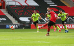 SOUTHAMPTON, ENGLAND - JULY 26: Danny Ings of Southampton scores from the penalty spot during the Premier League match between Southampton FC and Sheffield United at St Mary's Stadium on July 26, 2020 in Southampton, United Kingdom. (Photo by Matt Watson/Southampton FC via Getty Images)