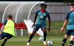 SOUTHAMPTON, ENGLAND - August 13: Allan Tchaptchet during a Southampton U18 training session at Staplewood Training ground on August 13, 2020 in Southampton, England. (Photo by Isabelle Field/Southampton FC via Getty Images)