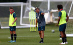 SOUTHAMPTON, ENGLAND - August 13: Paul Hardyman (center) during a Southampton U18 training session at Staplewood Training ground on August 13, 2020 in Southampton, England. (Photo by Isabelle Field/Southampton FC via Getty Images)