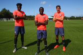 Trio sign first professional contracts