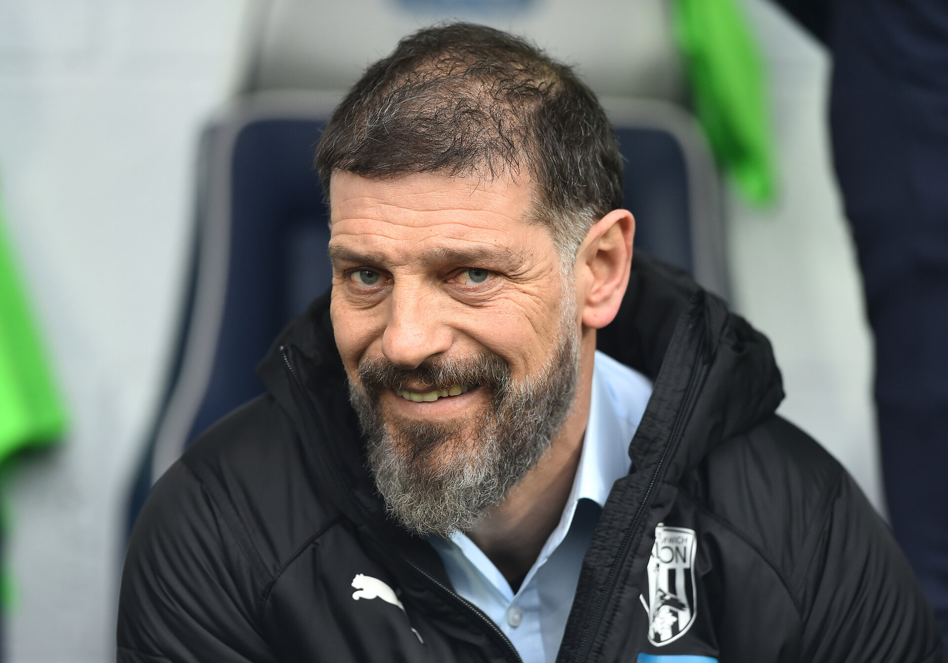 WEST BROMWICH, ENGLAND - FEBRUARY 15:   Slaven Bilic, Manager of West Bromwich Albion  looks on before the Sky Bet Championship match between West Bromwich Albion and Nottingham Forest at The Hawthorns on February 15, 2020 in West Bromwich, England. (Photo by Nathan Stirk/Getty Images)