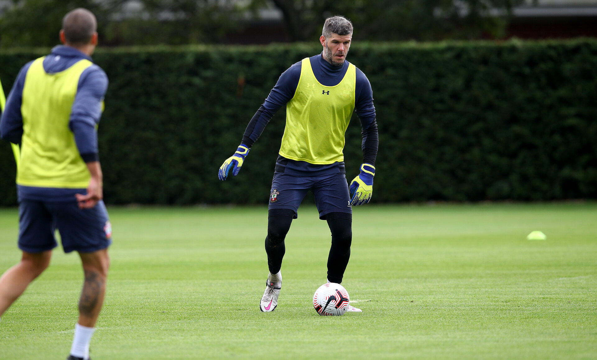 SOUTHAMPTON, ENGLAND - AUGUST 25: Fraser Forster during a Southampton FC training session at the Staplewood Campus on August 25, 2020 in Southampton, England. (Photo by Matt Watson/Southampton FC via Getty Images)