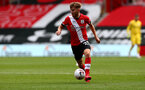 SOUTHAMPTON, ENGLAND - AUGUST 29: Jake Vokins during a pre-season friendly between Southampton FC and Swansea City at St Marys Stadium, on August 29, 2020 in Southampton, England. (Photo by Matt Watson/Southampton FC via Getty Images)