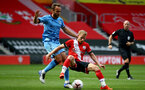 SOUTHAMPTON, ENGLAND - SEPTEMBER 1: Josh Sims (R) of Southampton during a pre-season friendly match between Southampton U23 and Coventry City at St Mary's Stadium on September 1, 2020 in Southampton, United Kingdom. (Photo by Isabelle Field/Southampton FC)