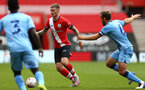 SOUTHAMPTON, ENGLAND - SEPTEMBER 1: Callum Slattery (center) of Southampton during a pre-season friendly match between Southampton U23 and Coventry City at St Mary's Stadium on September 1, 2020 in Southampton, United Kingdom. (Photo by Isabelle Field/Southampton FC)