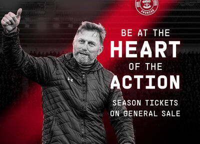 2020/21 Season Tickets on general sale