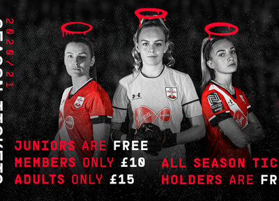 Southampton FC Women's 2020/21 Season Tickets on sale now