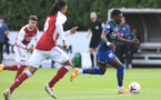 ST ALBANS, ENGLAND - SEPTEMBER 11: of Arsenal during the Premier League 2 match between Arsenal U23 and Southampton U23 at London Colney on September 11, 2020 in St Albans, England. (Photo by David Price/Arsenal FC via Getty Images)