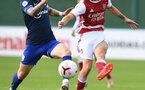 ST ALBANS, ENGLAND - SEPTEMBER 11: Callum Slattery(L) of Southampton during the Premier League 2 match between Arsenal U23 and Southampton U23 at London Colney on September 11, 2020 in St Albans, England. (Photo by David Price/Arsenal FC via Getty Images)