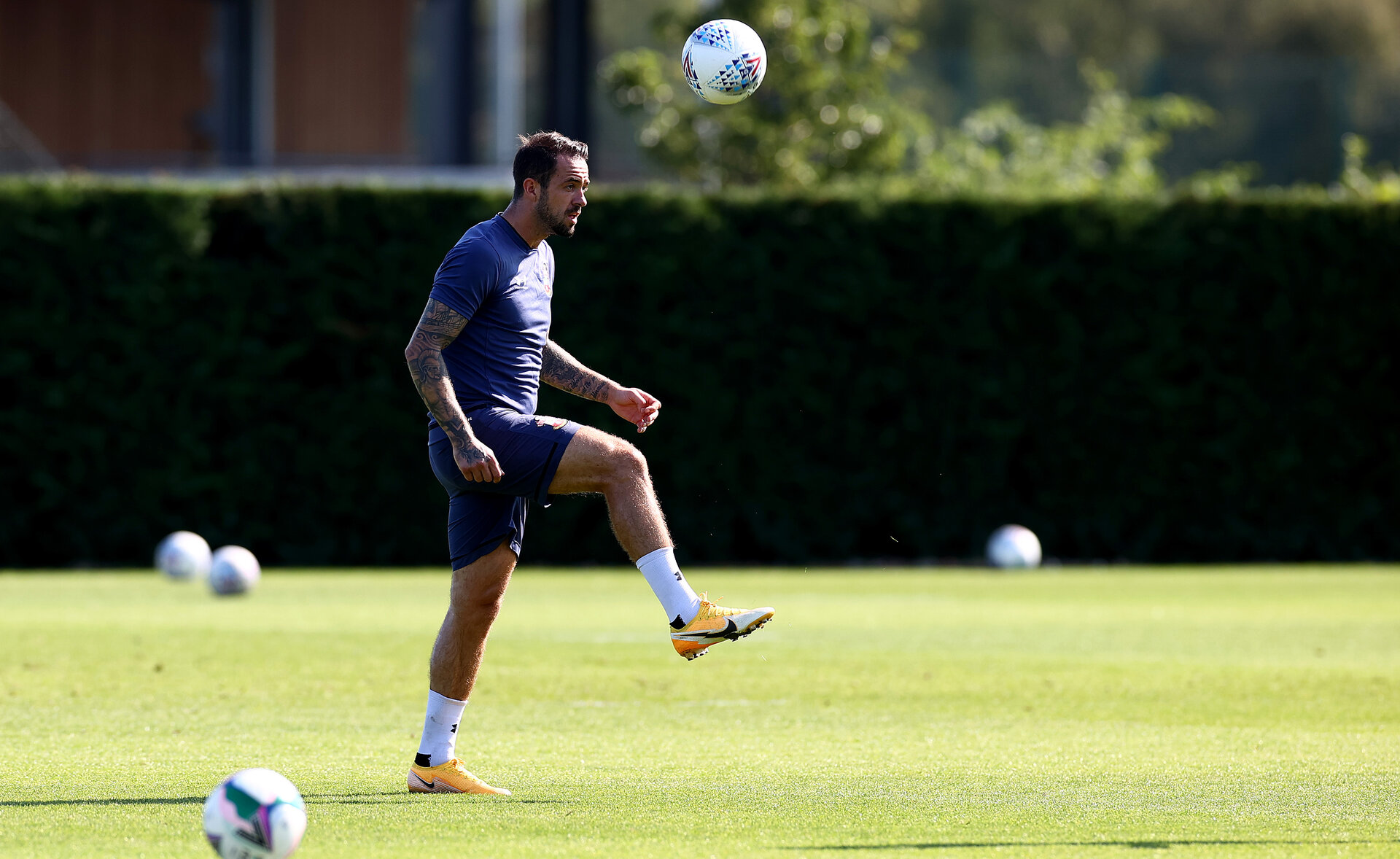 SOUTHAMPTON, ENGLAND - SEPTEMBER 14: Danny Ings during a Southampton FC training session at the Staplewood Campus on September 14, 2020 in Southampton, England. (Photo by Matt Watson/Southampton FC via Getty Images)