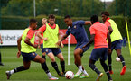 LONDON, ENGLAND - SEPTEMBER 15: Yan Valery (center) during B Team training session Staplewood Training Ground on September 15, 2020 in Southampton, United Kingdom. (Photo by Isabelle Field/Southampton FC via Getty Images)