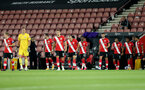 SOUTHAMPTON, ENGLAND - SEPTEMBER 16: southampton walking out ahead of the second round of the Carabao Cup match between Southampton FC and Brentford FC at St. Mary's Stadium on September 16, 2020 in Southampton, England. (Photo by Matt Watson/Southampton FC via Getty Images)