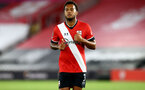 SOUTHAMPTON, ENGLAND - SEPTEMBER 16: Ryan Bertrand of Southampton during the second round of the Carabao Cup match between Southampton FC and Brentford FC at St. Mary's Stadium on September 16, 2020 in Southampton, England. (Photo by Matt Watson/Southampton FC via Getty Images)