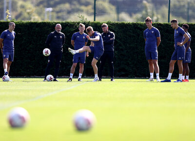 Gallery: Getting set for Spurs