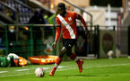 SOUTHAMPTON, ENGLAND - SEPTEMBER 18: Pascal Kpohomouh of Southampton during the Premier League 2 match between Southampton FC B Team and Chelsea FC at Snows Stadium on September 18, 2020 in Southampton, England. (Photo by Isabelle Field/Southampton FC via Getty Images)
