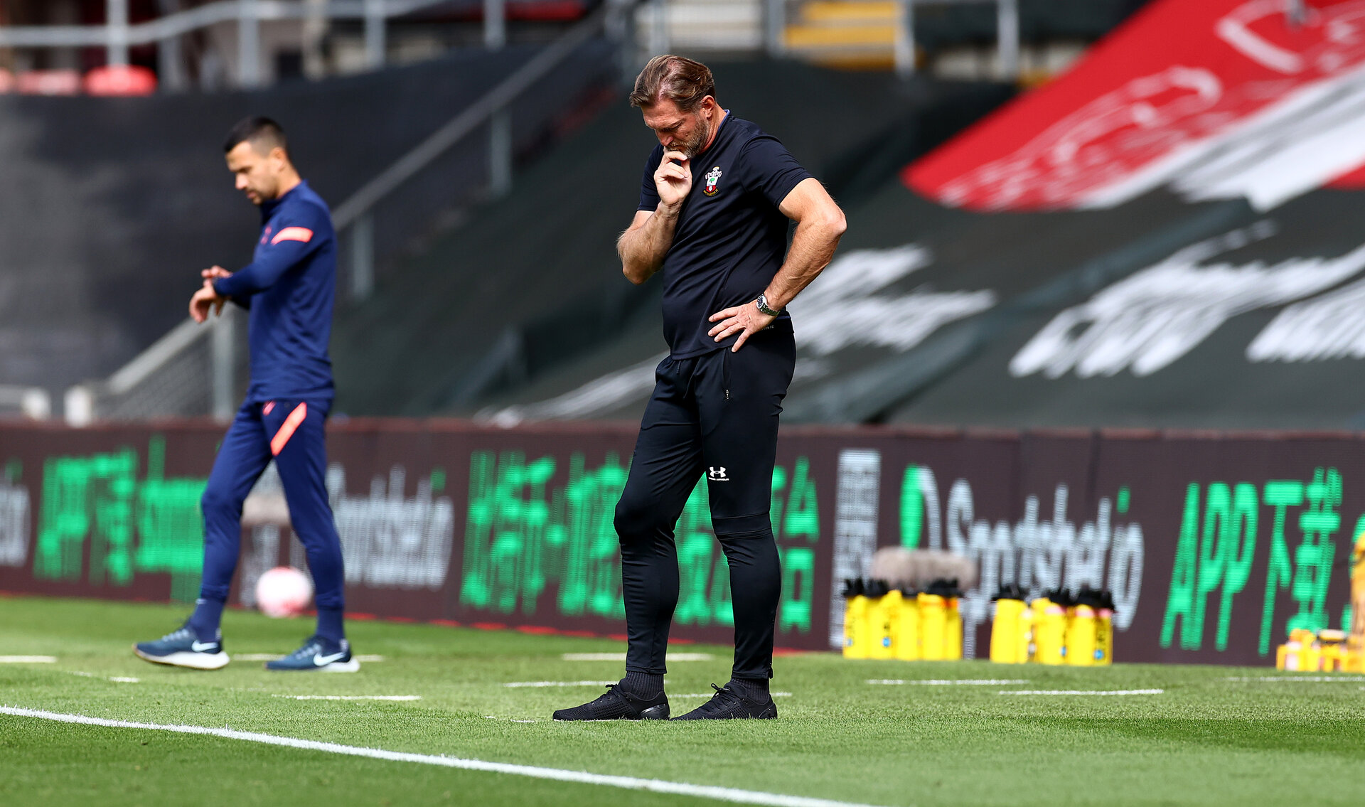 SOUTHAMPTON, ENGLAND - SEPTEMBER 20: Ralph Hasenhüttl of Southampton during the Premier League match between Southampton and Tottenham Hotspur at St Mary's Stadium on September 20, 2020 in Southampton, United Kingdom. (Photo by Matt Watson/Southampton FC via Getty Images)