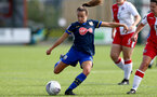 SOUTHAMPTON, ENGLAND - SEPTEMBER 20: Sophia Pharoah of Southampton during the FAWNL match between Southampton Women and Poole Town FC at Specsavers County Ground on September 20, 2020 in Poole, England. (Photo by Isabelle Field/Southampton FC via Getty Images)