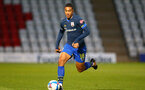 STEVENAGE, ENGLAND - SEPTEMBER 22: Yan Valery of Southampton during the EFL Trophy match between Stevenage FC and Southampton FC B Team  at the Lamex Stadium on September 22, 2020 in Stevenage, England. (Photo by Isabelle Field/Southampton FC via Getty Images)