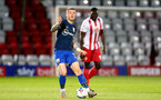 STEVENAGE, ENGLAND - SEPTEMBER 22: Callum Slattery of Southampton during the EFL Trophy match between Stevenage FC and Southampton FC B Team  at the Lamex Stadium on September 22, 2020 in Stevenage, England. (Photo by Isabelle Field/Southampton FC via Getty Images)