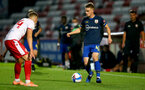 STEVENAGE, ENGLAND - SEPTEMBER 22: Jake Hesketh (R) of Southampton during the EFL Trophy match between Stevenage FC and Southampton FC B Team  at the Lamex Stadium on September 22, 2020 in Stevenage, England. (Photo by Isabelle Field/Southampton FC via Getty Images)