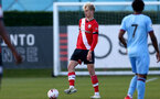 SOUTHAMPTON, ENGLAND - SEPTEMBER 26: Christoph Klarer of Southampton during Premier League 2 Match between Southampton B Team and West Ham United at Staplewood Training Ground on September 26, 2020 in Southampton, England. (Photo by Isabelle Field/Southampton FC via Getty Images)