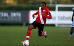 SOUTHAMPTON, ENGLAND - SEPTEMBER 26: Kayne Ramsay of Southampton during Premier League 2 Match between Southampton B Team and West Ham United at Staplewood Training Ground on September 26, 2020 in Southampton, England. (Photo by Isabelle Field/Southampton FC via Getty Images)