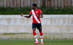 SOUTHAMPTON, ENGLAND - SEPTEMBER 26: Kazeem Olaigbe of Southampton during Premier League 2 Match between Southampton B Team and West Ham United at Staplewood Training Ground on September 26, 2020 in Southampton, England. (Photo by Isabelle Field/Southampton FC via Getty Images)