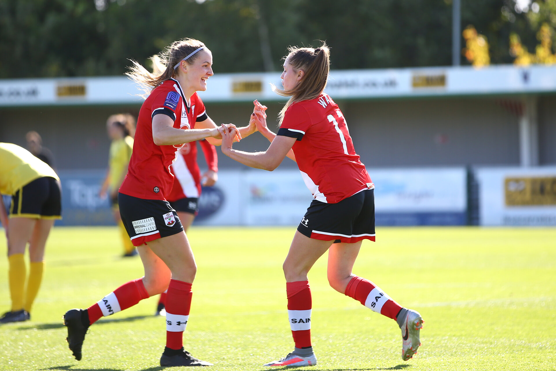 Southampton, ENGLAND - SEPTEMBER 27: during the FAWNL match between Southampton Women and Buckland Athletic at Snows Stadium on September 27, 2020 in Southampton, United Kingdom (Photo by Isabelle Field/Southampton FC via Getty Images)