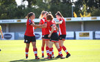 Southampton, ENGLAND - SEPTEMBER 27: southampton players celebrate Alisha Ware goal during the FAWNL match between Southampton Women and Buckland Athletic at Snows Stadium on September 27, 2020 in Southampton, United Kingdom (Photo by Isabelle Field/Southampton FC via Getty Images)