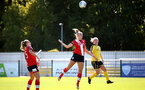 Southampton, ENGLAND - SEPTEMBER 27: Catlin Morris (center) of Southampton during the FAWNL match between Southampton Women and Buckland Athletic at Snows Stadium on September 27, 2020 in Southampton, United Kingdom (Photo by Isabelle Field/Southampton FC via Getty Images)