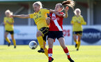 Southampton, ENGLAND - SEPTEMBER 27: Ella Pusey (R) of Southampton during the FAWNL match between Southampton Women and Buckland Athletic at Snows Stadium on September 27, 2020 in Southampton, United Kingdom (Photo by Isabelle Field/Southampton FC via Getty Images)