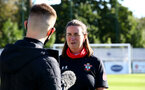 Southampton, ENGLAND - SEPTEMBER 27: Marieanne Spacey-Cale (R) after the FAWNL match between Southampton Women and Buckland Athletic at Snows Stadium on September 27, 2020 in Southampton, United Kingdom (Photo by Isabelle Field/Southampton FC via Getty Images)