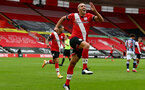 SOUTHAMPTON, ENGLAND - OCTOBER 04: Oriol Romeu of Southampton goal celebration during the Premier League match between Southampton and West Bromwich Albion at St Mary's Stadium on October 4, 2020 in Southampton, United Kingdom. Sporting stadiums around the UK remain under strict restrictions due to the Coronavirus Pandemic as Government social distancing laws prohibit fans inside venues resulting in games being played behind closed doors. (Photo by Matt Watson/Southampton FC via Getty Images)