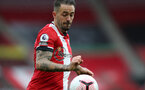 SOUTHAMPTON, ENGLAND - OCTOBER 04: Danny Ings during the Premier League match between Southampton and West Bromwich Albion at St Mary's Stadium on October 4, 2020 in Southampton, United Kingdom. Sporting stadiums around the UK remain under strict restrictions due to the Coronavirus Pandemic as Government social distancing laws prohibit fans inside venues resulting in games being played behind closed doors. (Photo by Chris Moorhouse/Southampton FC via Getty Images)