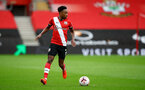 SOUTHAMPTON, ENGLAND - OCTOBER 04: Kyle Walker-Peters of Southampton during the Premier League match between Southampton and West Bromwich Albion at St Mary's Stadium on October 04, 2020 in Southampton, United Kingdom. Sporting stadiums around the UK remain under strict restrictions due to the Coronavirus Pandemic as Government social distancing laws prohibit fans inside venues resulting in games being played behind closed doors. (Photo by Matt Watson/Southampton FC via Getty Images)