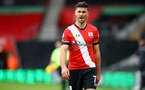 SOUTHAMPTON, ENGLAND - OCTOBER 04: Shane Long during the Premier League match between Southampton and West Bromwich Albion at St Mary's Stadium on October 04, 2020 in Southampton, United Kingdom. Sporting stadiums around the UK remain under strict restrictions due to the Coronavirus Pandemic as Government social distancing laws prohibit fans inside venues resulting in games being played behind closed doors. (Photo by Matt Watson/Southampton FC via Getty Images)