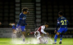 NORTHAMPTON, ENGLAND - OCTOBER 06: Caleb Watts(L) of Southampton during EFL Cup match between Northampton Town FC and Southampton FC B Team at the PTS Academy Stadium on October 6, 2020 in Northampton, England. (Photo by Isabelle Field/Southampton FC via Getty Images)