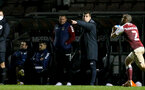 NORTHAMPTON, ENGLAND - OCTOBER 06: David Horseman southampton head coach during EFL Cup match between Northampton Town FC and Southampton FC B Team at the PTS Academy Stadium on October 6, 2020 in Northampton, England. (Photo by Isabelle Field/Southampton FC via Getty Images)