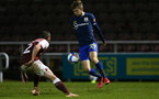 NORTHAMPTON, ENGLAND - OCTOBER 06: Jake Vokins(R) of Southampton during EFL Cup match between Northampton Town FC and Southampton FC B Team at the PTS Academy Stadium on October 6, 2020 in Northampton, England. (Photo by Isabelle Field/Southampton FC via Getty Images)